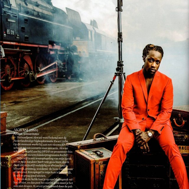 Red hot! Akwasi wearing a Strellson suit in the latesthellip