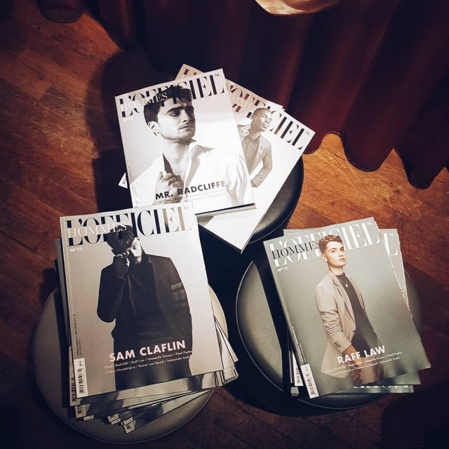 Launch of the new LOfficiel Hommes thenewexperience rafflaw danielradcliffe samclaflinhellip