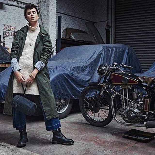 Garage rock gstarraw trench in the new issue of feelingmagazine!hellip