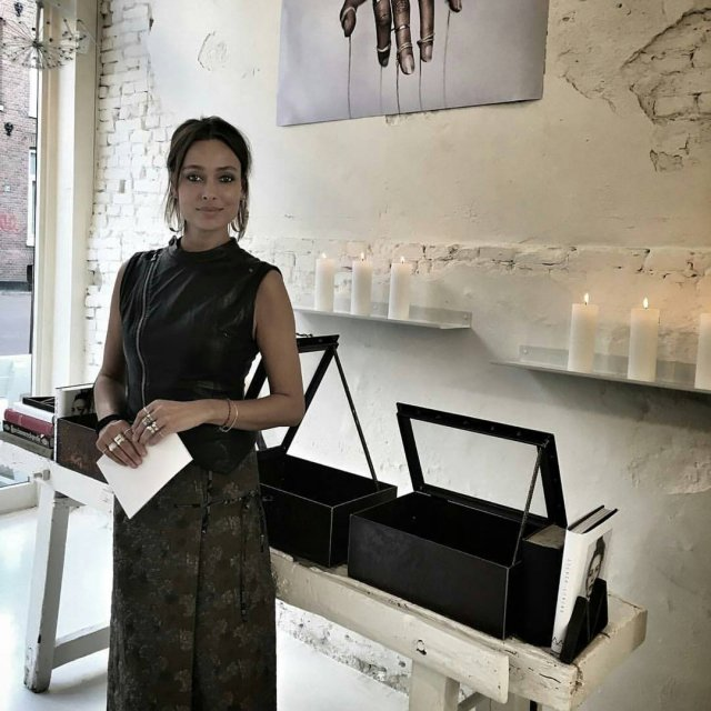 Merrel Westhoff at Monocraffts Silver Lining launch yesterday at Cottoncakehellip