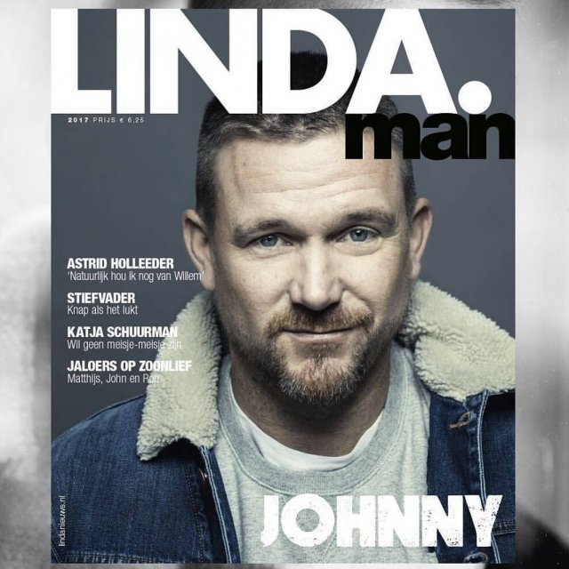 Johnny de Mol in Wrangler on the cover of LINDAmanhellip